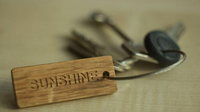 Key Chains | Wood & Steel Keychains | Keychains with Caption