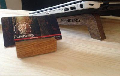 Stand for Business Cards | Business Card Wooden Holder  | Oak Natural