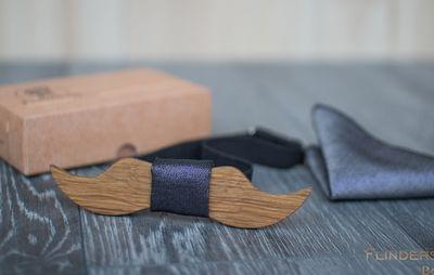 Wooden Bow Tie <DANDY> Stylish Accessories