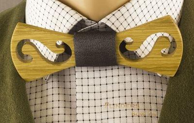 Bow Tie <TWIST> Wooden Accessories - Natural Oak