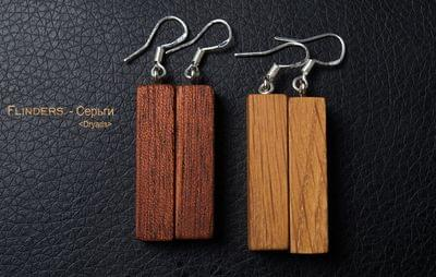 Earrings for Girls <Dryads> Decoration from a Wood | Oak