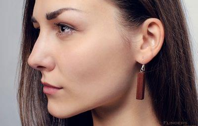 Earrings <Dryads> Red Wood | Decoration for Girls