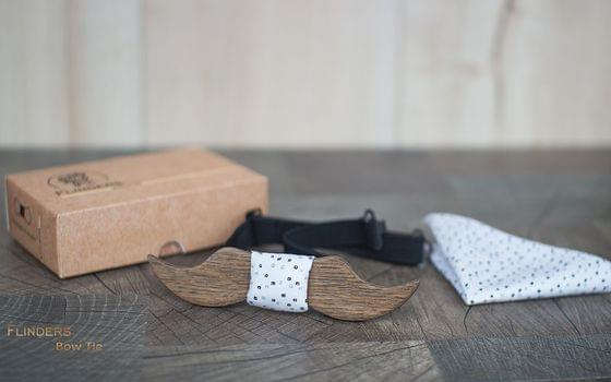 Vintage Bow Tie <DANDY> Wooden Accessories