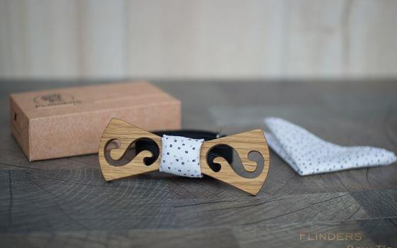 Wooden Bow Tie <TWIST> Creative Accessory