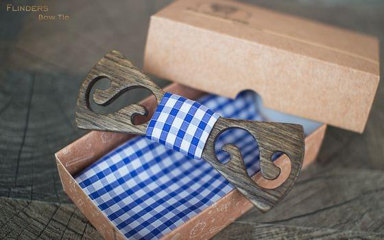 Bow Tie <TWIST> Original Wood Accessory