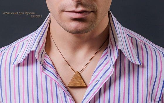 Pendant <Trinity Energy> Amulet of the Tree for Men | Triangle | Oak