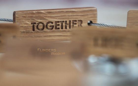 Wooden Keyсhain <TOGETHER> Personal Keychain