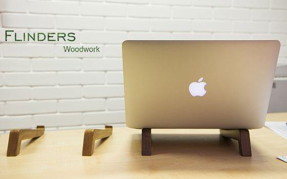 Stand for MacBook Pro / Air <Original> Apple | Laptop Desk | Dark Oak