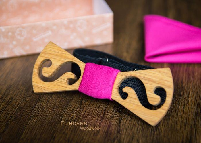 Stylish Bow Tie for Girls <Sexy Pink Infinity>