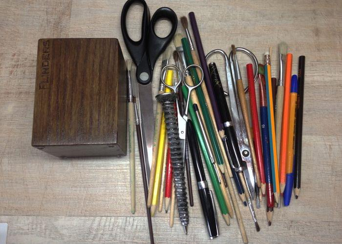 Organizer for Pens | Penal Holder | Stand for Brushes | Brown Oak