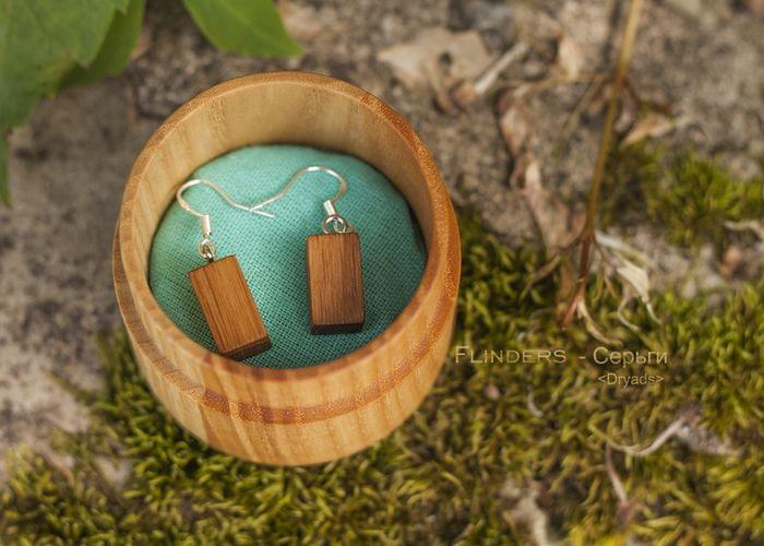 Wooden Earrings <Dryads> Decoration for Girls | Precious Oak