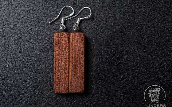 Earrings <Dryads> Redwood | Eco Jewellery for Girls | Silver